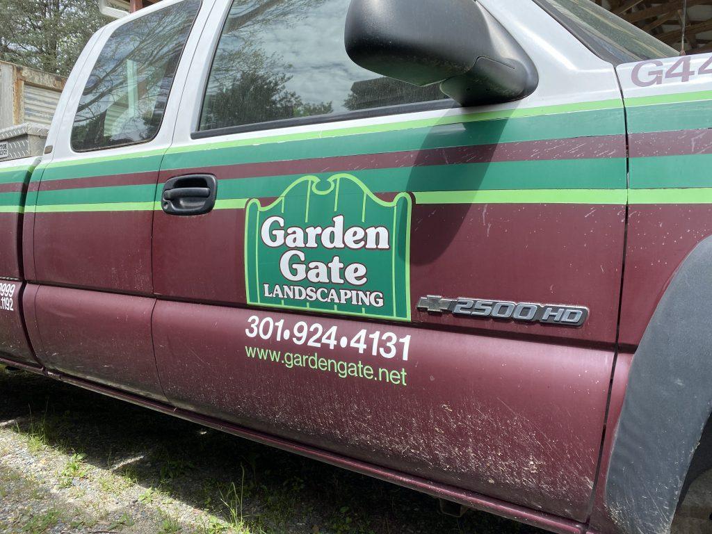 Garden Gate truck after a long day's work.